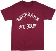Black Scale Ruthless By Law Men Regular Fit T-Shirt Burgundy S-L BLVCK SCVLE Tee