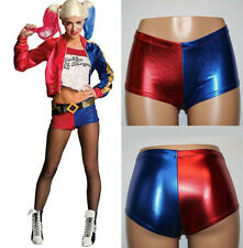 Halloween Cosplay Harley Quinn Shorts Suicide Squad Harlequin Shiny Pants Sexy