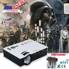 1080P 5000LM LED Projector LED LCD Home Theater Cinema Multimedia HDMI 3D US