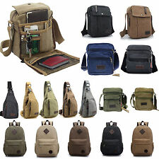 New Vintage Men Boy Canvas Shoulder Casual School Military Messenger Travel Bag