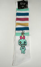 Disney Lilo & Stitch Scrump doll Striped Knee High Varsity Striped Socks 1 Pair