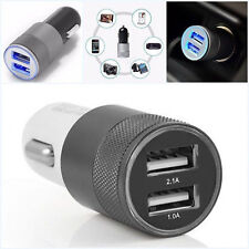 LOT 12V Car Dual 2 Port USB Socket Charger Adapter For iphone 7 5 6s Samsung X#