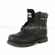 Warrior MMB20 Black Leather Goodyear Welted Nitrile Sole Safety Boots Steel Toe
