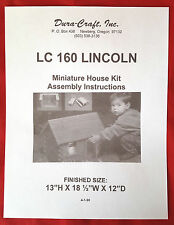 Dura-Craft  *LINCOLN* LC-160  Dollhouse Instructions