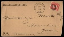 Twin Mountain NH 1896 Maine Central Railroad Co Cover
