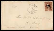 Us Massachusetts Oct 5 1885 Single Franked Cover To Hartford Connecticut
