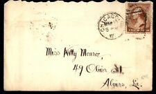 1885 Chicago Illinois Single Franked Cover To Algiers Illinois Early Classic