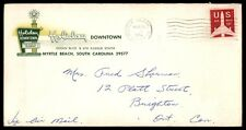 Holiday Hotel Myrtle Beach Sc 1972 Single Franked Air Mail Cover To Ontario Ca