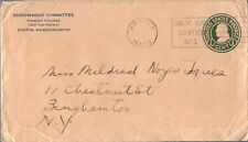 ENDOWMENT COMMITTEE BOSTON MA 1900S SINGLE FRANKED SLOGAN CANCEL ON NICE COVER T