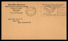 1939 Washington Dc Airmail Saves Time Pictorial Cancel On Postal Card