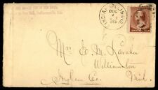 1885 Indianapolis Indiana Single Franked Cover To Williamstown Michigan