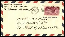 Army military APO 108 single franked cover to St. Paul Minnesota