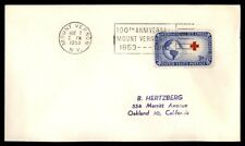 MT VERNON NY 100TH ANNIV MAY 1953 US 3c RED CROSS ISSUE & SLOGAN CANCEL ON COVER