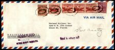 Treo Company 1957 Feb 27 Registered National Airlines Airmail cover