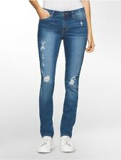 calvin klein womens ultimate skinny classic blue jeans