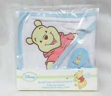 NEW DISNEY Hooded Towel & Brush & Comb SET WINNIE THE POOH baby in package
