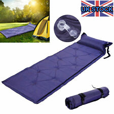 Single Self Inflating Camping Roll Mat Inflatable Bed Sleeping Mattress Pad+Bags