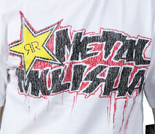 Metal Mulisha Mens Rockstar Energy Drinks Molten Logo White T-Shirt NWT
