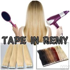 UK Hair Trends Tape In Virgin Remy Human Hair Extension Weft Hair 40Pieces JY041