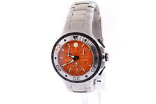Men's Movado 2600041 Series 800 Stainless Steel Orange Dial Chronograph Watch