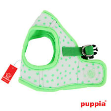 4Dog Puppy Harness Soft Vest- Puppia - Cosmic - Green - Choose Size
