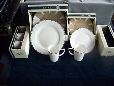 """RALPH LAUREN CLUB PORCELAIN """"MIRABELLE""""  SERVICE FOR FOUR   NEW IN THE BOX"""