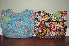 Vera Bradley POPPY FIELDS or TOTALLY TURQ Retired Shoulder BUCKET TOTE - NWT