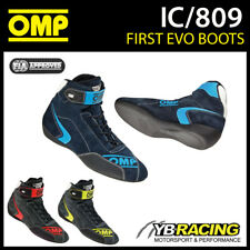 NEW! IC/809 2017 OMP FIRST EVO RACING RALLY BOOTS SHOES FIREPROOF FIA 8856-2000