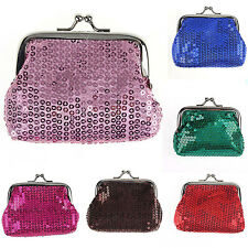 SM Fashion Women Small Sequin Mini Wallet Card Holder Coin Purse Clutch  Bag
