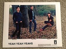 """YEAH YEAH YEAHS promo only color 10""""x8"""" publicity photo RARE OOP Interscope 2006"""