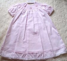 Girls FELTMAN BROTHERS boutique dress 18M 24M NWT pink smocked bishop 12-18-24