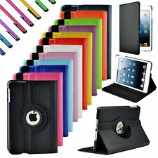 For Apple iPad mini 1/2/3 360 Rotating Leather Case Smart Back Cover Stand