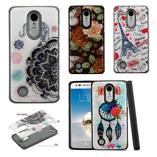 For LG Aristo Rugged Rubber SILICONE Soft Gel Skin Case Cover +Screen Protector