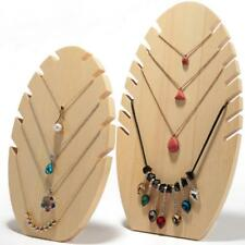 Novelty Wooden Flame Necklace Chain Jewelry Display Stand Holder Showcase