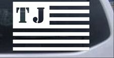 Jeep TJ American USA Flag Right Car or Truck Window Laptop Decal Sticker 6X9.4