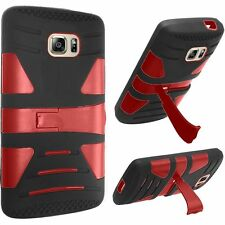 Dual Layer Skin Kickstand Case Cover For Samsung Galaxy S7 SM-G930