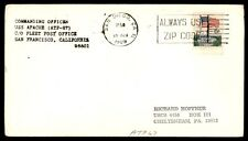 USS Apache Atf 67 San Diego Ca Oct 10 1969 Single Franked Naval Cover