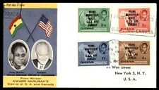 July 18, 1958 Ghana Prime Minister visit illustrated first-day cover