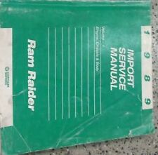 1989 DODGE RAM RAIDER TRUCK Service Repair Shop Manual ENGINE CHASSIS BODY