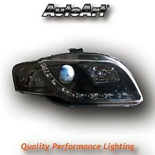 Audi A4 B7 04-08 Black LED DRL Projector Headlights Lighting Lamp Spare Part