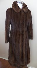 Vintage sable brown mink coat full length coat
