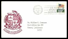 USN BYRD STA ANTARCTICA FEB 21 1969 OPERATION DEEP FREEZE CACHET ON NAVAL COVER