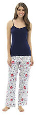 Ladies Cami Strappy Top Rose Butterfly Bottoms Summer Pyjama pajama Sleepwear