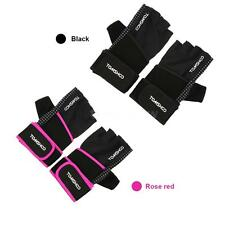 Unisex Weight Lifting Gloves Fitness Gloves with Wrist Wrap Anti-slip Grip A6U2