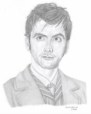 DAVID TENNANT Limited Edition art drawing print  2 sizes A4/A3 & card available