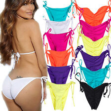 Brazilian Women Brazilian Cheeky Bottom Thong V Swimwear Swimsuit Bikini Bottom