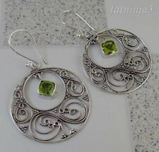 Gemstone Solid Silver, 925 Balinese Traditional Design Earring 31508