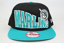 Florida Marlins Stoked Snap Black Blue White MLB New Era 9Fifty Snapback Hat