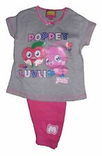 Girls Moshi Monster Poppet Pyjama Set T-shirt And Three Quarter Trouser LAST FEW