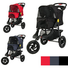 Deluxe 3-Wheel Pet Foldable Stroller Dog Cat Outdoor Travel Carrier Outdoor NEW